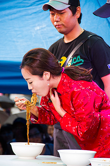 Noodle Puking Contest